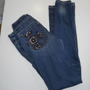 Miss Me Skinny jeans size 28 by 33 1/2